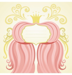 Pink card vector