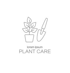 Plant care logotype design templates vector image
