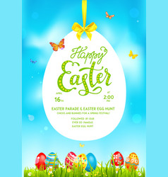 Poster holiday easter spring vector