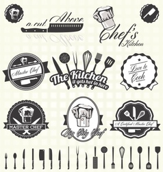 Retro Style Master Chef Labels vector