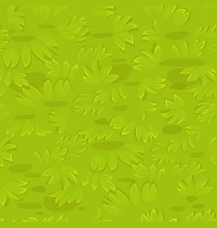 Seamless textured grass background on lawn vector