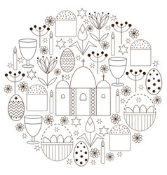 Set with religious elements for easter vector