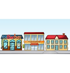 Shops on street vector image vector image