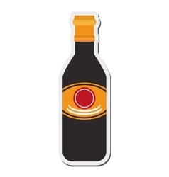 Soy sauce icon vector