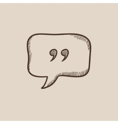 Speech bubble sketch icon vector image