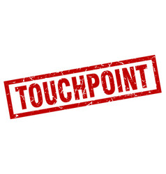 Square grunge red touchpoint stamp vector