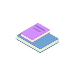 Stack of two books icon isometric 3d style vector
