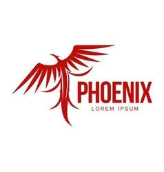 Stylized graphic phoenix bird resurrecting in vector image