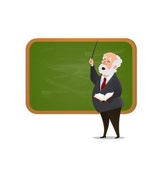 teacher at blackboard isolated cartoon vector image