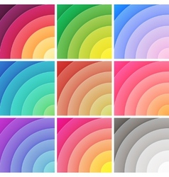 Trendy backgrounds pack of colorful gradients vector image