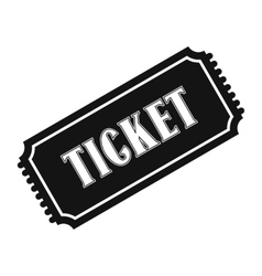 Vintage ticket simple icon vector image