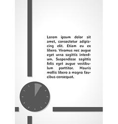 Watch symbol dark infographics vector