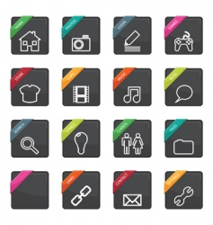 web button badges vector image