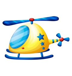 A helicopter toy vector image