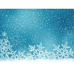 Blue snowflake winter background vector image