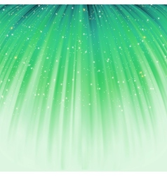 Festive green abstract with stars EPS 8 vector image vector image