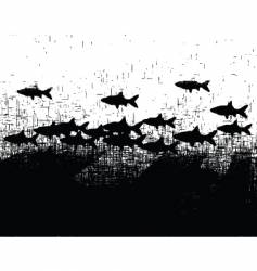 fishy grunge vector image vector image