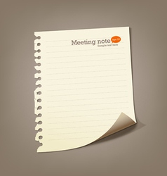 Paper meeting note vector image