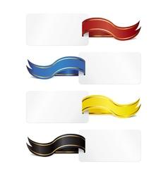 ribbon tag vector image