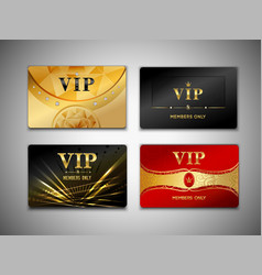 Small vip cards design set vector