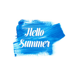white hello summer lettering vector image