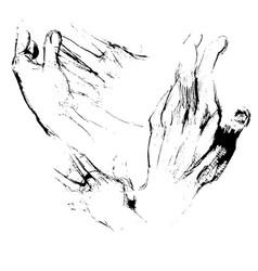 hands sketches vector image
