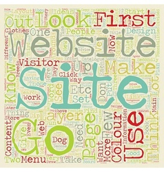 How to design a website from scratch text vector