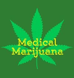 medical cannabis marijuana abstract sign vector image vector image