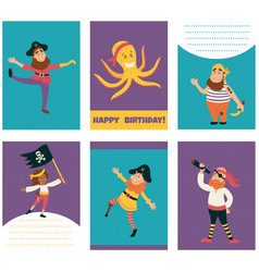 pirate cards vector image vector image