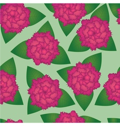 Seamless pattern of pink flowers vector image