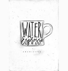 americano cup coffee vector image vector image