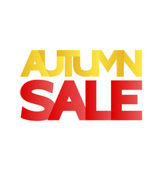 autumn sale in large letters of yellow and red vector image