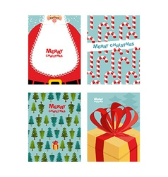 Collection card templates Christmas and new year vector image
