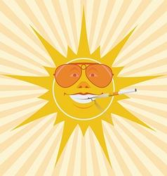 sun and cigarette vector image vector image