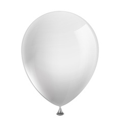 white balloon isolated on white background vector image vector image