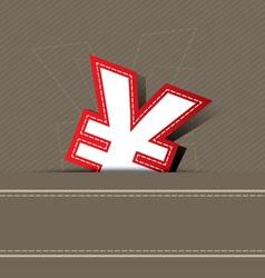 yen money icon design vector image