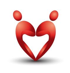 Heart figure logo vector image