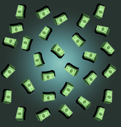 money background dollar rain background vector image