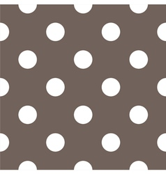 Tile white polka dots on brown background vector image
