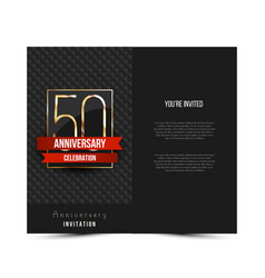 50th anniversary invitation card template vector