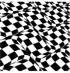 Abstract distorted checkered background vector