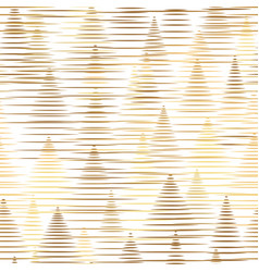 abstract lines pattern christmas tree golden shine vector image