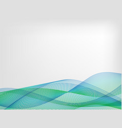 Abstract waved line background vector