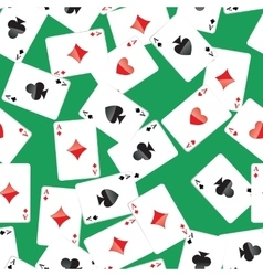 Aces playing cards seamless pattern vector