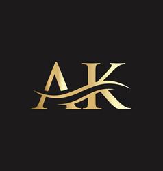 Ak letter logo initial letter business logo eps vector