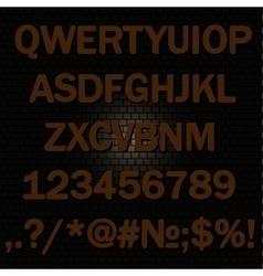 Alphabet background-brick wall vector