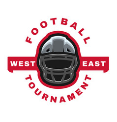 american football sport logo emblem vector image