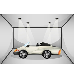 An elegant sports car at the garage vector image