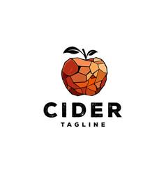 Apple logo cider logo design vector