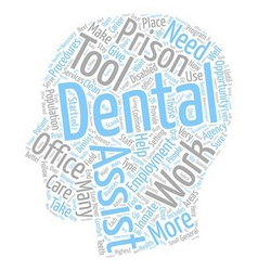 Areas of employment for dental assistants 1 text vector